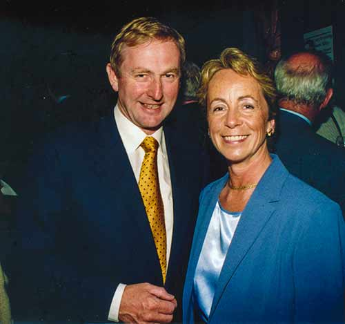 Mr Enda Kenny T.D., and Kathleen Villiers-Tuthill