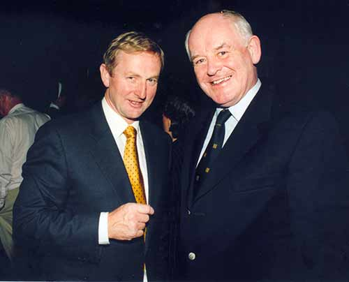 Mr Enda Kenny T.D., with Judge Harvey Kenny